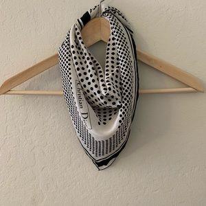 Authentic Dior square silk scarf